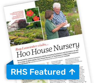 Hoo House Nursery in the RHS Magazine
